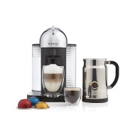 Nespresso Vertuoline GCA1 Chrome Bundle Espresso Machine with Aeroccino Plus Milk Frother