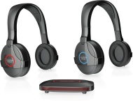 SHARPER IMAGE SHP925 100 Feet Wireless Headphones for Any TV, Gaming Systems, Home Theater and Computers Black