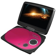 Impecca DVP916P 9 Inch Swivel Portable Dvd Player Pink