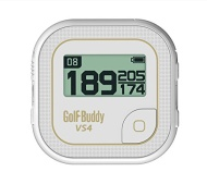 GolfBuddy VS4 Golf GPS, White/Gold