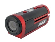 Coleman Xtreme Sports Full HD 1080p Waterproof Helmet Video Camera (Red)
