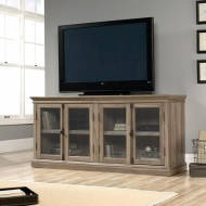 "Sauder Barrister Lane Credenza, for TVs up to 80"", Scribed Oak"