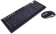 Ebuyer Black Wireless 2.4GHZ Multimedia Keyboard & Mouse