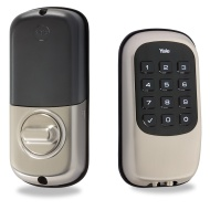 Yale YRD110 Real Living Push Button Z-Wave Deadbolt