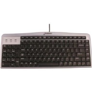 Evoluent Mouse-Friendly Keyboard - Silver / Black in color (NOT purple / black)