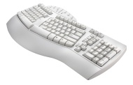 Perixx PERIBOARD-512W, Ergonomic Split Keyboard - White - Natural Ergonomic Design - Wired USB Interface - Recommended with Repetitive Stress Injuries