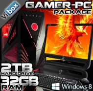 """VIBOX Sharp Shooter Package 10 - Extreme, Online, Gamer, Multimedia, Desktop, USB3.0 Computer, Full Package with 22"""" Monitor, Speakers, Keyboard & Mou"""