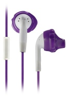 Yurbuds Inspire Female Performance-Fit Sports In-Ear Headphones - Purple/White