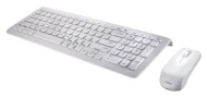 "Perixx PERIDUO-710W, Wireless Keyboard and Mouse Combo Set - Compact Size 15.32""x5.59""x0.98"" Dimension - Piano White - Built-in Numeric Keypad - Brand"