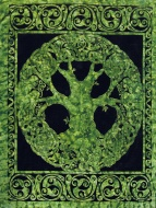 Giant Wall Tapestry ~ Green Tree Of Life ~ Approx 5 x 7.5 Ft