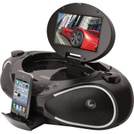 iLive DVD Boombox for iPod and iPhone IBPD882B, Black