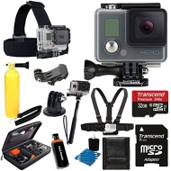 GoPro HERO Action Camera HD Camcorder Waterproof With Deluxe Hard Carrying Case + Head Strap + Chest Strap + Monopod + 32GB SDHC MicroSD Memory Card C