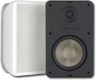 """Pair Moderno M6 6-1/2"""" Indoor Outdoor Stereo Speakers White"""