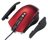 Perixx MX-1800R, programmabile Gaming Mouse - rosso - 7 tasti programmabili - Omron Microinterruttori - Avago ADNS3090 sensore ottico 3500dpi - Side v