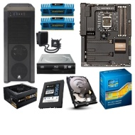 ASUS SABERTOOTH Intel Z77 Unlocked Barebones Kit - ASUS SABERTOOTH Z77 Board, Intel Core i7-2600K CPU, Corsair 8GB DDR3 RAM Kit, Seagate 1TB HDD, Sony