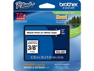 "Brother® TZe-221 P-Touch® Label Tape, 3/8"" Black on White"