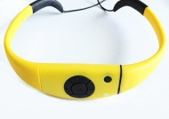Tayogo 2014 Upgraded Waterproof Mp3 Headset Music Player, 8gb Memory Hi-fi Stero, Earphone with Fm Radio for Swimming, Surfing, Running, Sports, Award