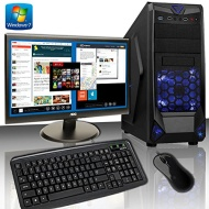 ADMI HOME/OFFICE PC PACKAGE: Versatile Desktop Computer, 21.5 Inch 1080p Monitor, Keyboard & Mouse Set (PC SPEC: AMD A4 6320 4GHz Dual Core Processor