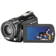 Insignia NS-DV111080F - Camcorder - High Definition - widescreen - 10.0 Mpix - optical zoom: 12 x - supported memory: SD, SDHC - flash card - black