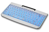 ZIPPY EL- 610 Silver & White 88 Normal Keys 3 Function Keys USB Mini Electron luminescent Keyboard