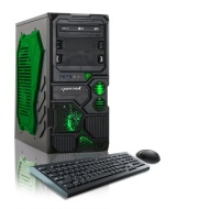 CybertronPC 3.8GHz 8GB DDR3 Borg-Q AMD FX-4130 Quad-Core Gaming PC Green w/GeForce GT610 1TB HDD Dvdrw Win 8 64-bit