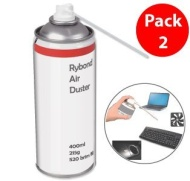 Compressed Air Duster Can HFC Free Gas Flammable 400ml (2 PACK)- AIR DUSTER used as keyboard cleaner, Printer Cleaner, Laptop Cleaner, Xbox 360 & Play