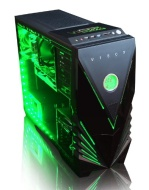 VIBOX Warrior 4 - Fast 4.0GHz 6-Core, High Spec, Desktop Gaming PC, Computer with Neon Green Internal Lighting Kit (AMD FX 6300 Six Core Processor, 2G