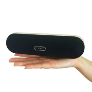 iQualTech Wireless Bluetooth & NFC Speaker High Quality Pill shape Design and Function with Integrated Mic for Handsfree and 2x5 Watt Speakers (Black)
