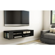 South Shore Life Wall Mounted Media Console, Multiple Finishes