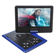 "DBPOWER® New 9.5"" Portable DVD Player Remote Function,Game+USB+FM+SD, Swivel & Flip 270°"