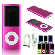 Voberry 8GB 1.8 inch 4th Gen MP3 MP4 Player Media/music/audio Player with Fm Radio(Rose)