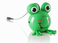 KitSound Mini Buddy Frog Speaker Compatible with iPod, iPad 2/3/4/Mini, iPhone 3G/3GS/4/4S/5 and Android Devices