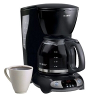 Mr. Coffee Coffee Maker with Clock - Black