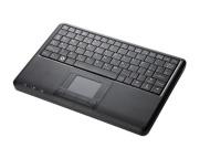 """Perixx PERIBOARD-510H PLUS, Wired Keyboard with Touchpad & USB Port - USB - Super Mini 9.05""""x6.30""""x0.90"""" Dimension - Built-in 2 x USB2.0 Hubs - Silent"""