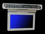 "Visua Glossy White Special Edition 10.2"" Under Cabinet Flip Down Kitchen TV with DVD, Clock / Radio"