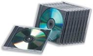 Compucessory 442455 - Lote de cajas para CD (10 unidades), transparente