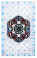 Sunshine Joy Love Lotus Sky Geometric Design Tapestry - 60x90 Inches - Beach Sheet - Hanging Wall Art
