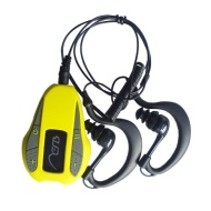 Aerb® 4G Waterproof MP3 Music Player With Mono OLED Screen Display Support FM Radio / Pedometer for Swimming & other Sports (IPX-8 Standard)--Yellow