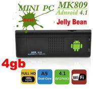 MINI PC T002 TV Android 4.1 Jelly Bean Dual Core A9 1.6GHZ DDR 1GB con Tastiera MWK08 Wireless con Mousepad