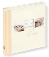 """Walther UK-235 Babyalbum """"My Baby"""", Format 28 x 30.5 cm, 60 weiße Seiten mit Pergamin, 4-seitiger illustrierter Vorspann, mit Leinenrücken und Ausschn"""