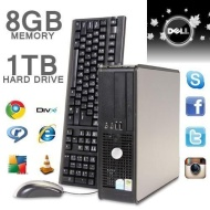 DELL GX PC 8GB 1TB HARD DRIVE WIN7 WIFI DVDRW HIGH SPEC FAST PC (P2-8)