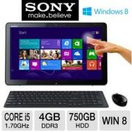 "Sony VAIO® SVJ20215CXB 20"" Touchscreen All-in-One Desktop PC - Black"