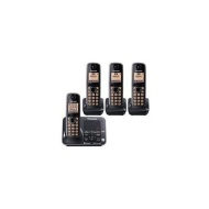 Panasonic KX-TG7624SK Dect 6.0 Link-to-Cell Bluetooth Cordless Phone with 4-Handset