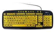 Geemarc Multimedia Big Letter Yellow Keyboard- UK Version