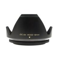 Mennon DC-sn 52 Improved Screw Mount 52mm Flower Lens Hood with Cap, Black