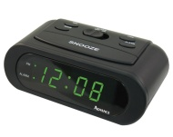 Advance Time Technology LED 6-Inch Alarm Clock, Green