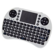 Mini Wireless Keyboard with Mouse - White