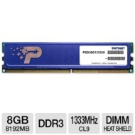Patriot PSD38G13332H Signature 8GB DDR3 CL9 PC3-10600 1333MHz DIMM with Heatshield