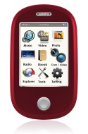 Ematic EM638VIDRD Touch Screen MP3 Video Player with 5MP Camera with LED Flash and Video Recording