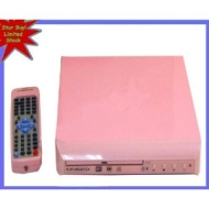 Funky Pink DVD Player with remote DVD MP3 CD-R CD-RW WMA CD DHCD